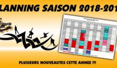 Planning saison 2018-2019